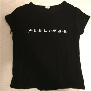 """feelings"" shirt"